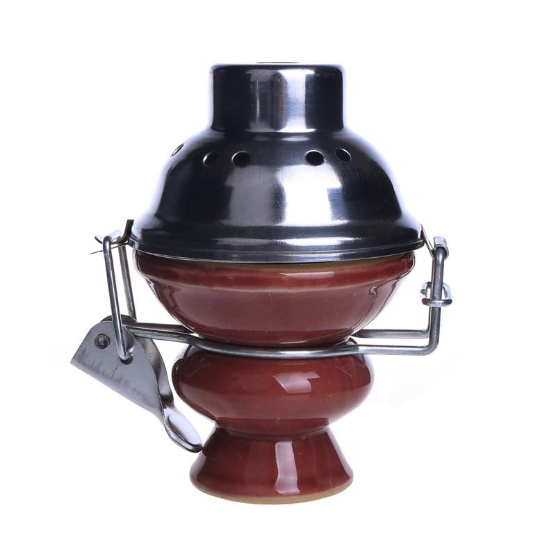Metal Ceramic Shisha Chicha Hookah And 1pc Charcoal Holder Keeper  As For Glass Shisha Hookah