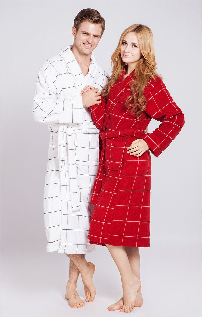 Women\'s Mid-Calf Cotton Sleep Lounge Robes RBS-D RB17 5