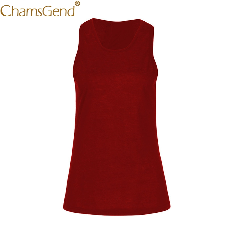 Chamsgend Shirt Newly Design Women Cross Back Racerback Basic Tank Top Work Out Shirt For Body Exercise 80315