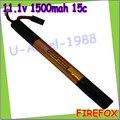 wholesale 1pcs 100% Orginal Firefox 11.1V 1500mAh 15C Li Polymer battery F3L15T Drop shipping