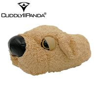 CUDDLYIIPANDA Winter Home Funny Slippers Christmas Gift Men Women Cotton Cute Dog Plush Slipper Floor Fantufas
