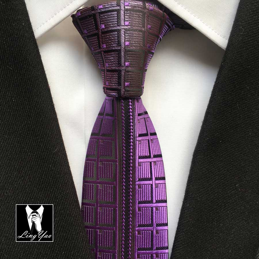 ᐃDiseñador Señores Moda Flaco Corbata Delgada Corbata Púrpura ...
