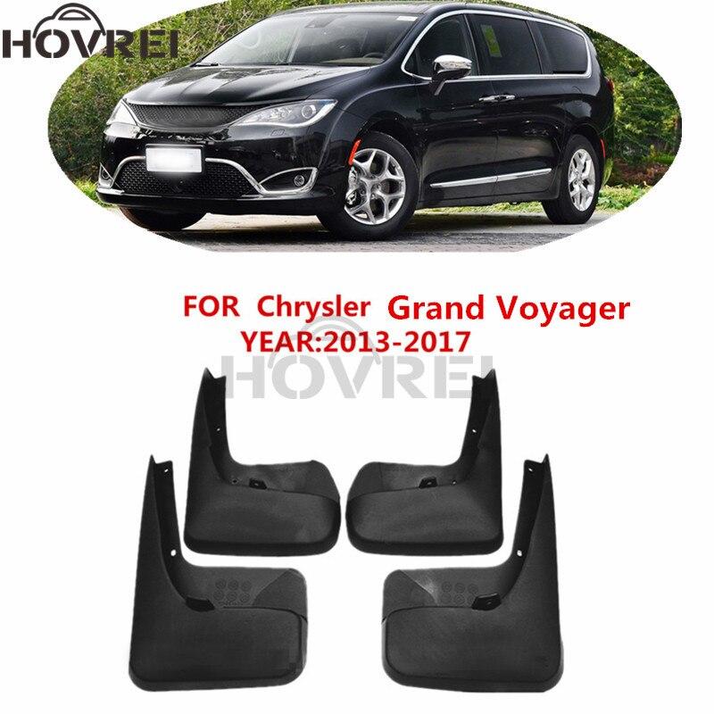 4pcs set Car Mudguards Fender Mud Flaps Splash Guards For Chrysler Grand Voyager 2013 2017 2014