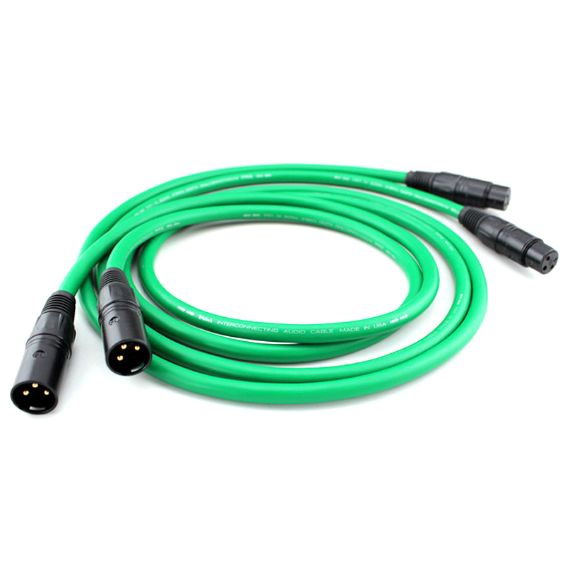 Free shipping <font><b>MCINTOSH</b></font> <font><b>2328</b></font> audio 4N Copper <font><b>Mcintosh</b></font> XLR Interconnect audio cable with scarbon fiber XLR plugs image