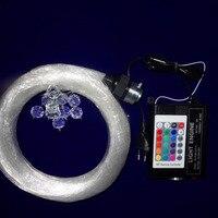 16W RF RGB Engine Mixed Diameter Led Star Ceiling Optical Fiber Kit 150pcs 0 75mm 80pcs