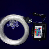 16 Watt RF RGB motor + gemischte durchmesser led sternenhimmel lichtwellenleiter-kit; 150 stücke 0,75mm + 80 stücke 1,0mm + 8 stücke 1,5mm 3 mt lange