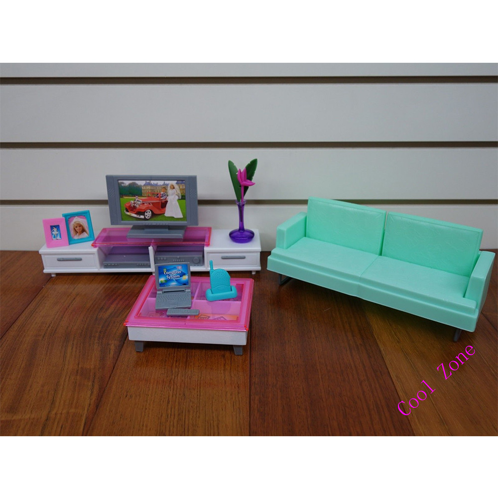 Miniature leisure living room furniture set for barbie doll house best gift toys for girl free shipping in dolls accessories from toys hobbies on