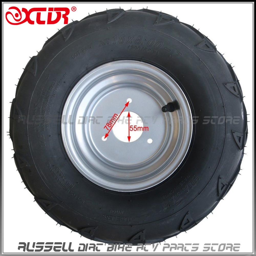 Responsible 16x8-7 Tyre Tire & Rim Wheel For Atv Quad Sunl-110cc Atv Front Rear Wheel Taotao 125cc Go Kart Relieving Rheumatism And Cold Back To Search Resultsautomobiles & Motorcycles Atv,rv,boat & Other Vehicle