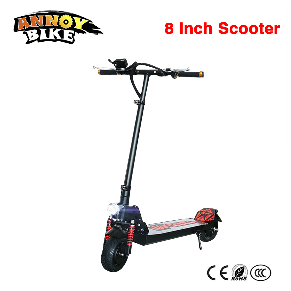 Electric scooter 8 inch Folding scooter 36V350W electric skateboard trottinette electrique adulte scooter electric Free shipping цена