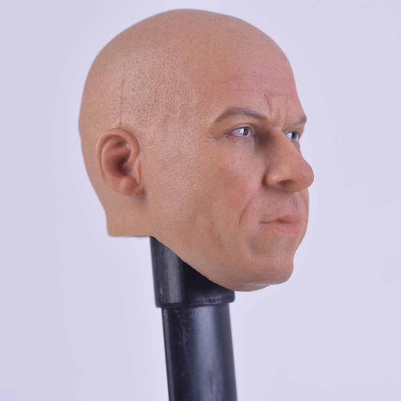 1 6 Scale head sculpt shape Jack Jiha luner A 14 Head Model Speed and Passion Van Diesel for 12 inch action figures in Action Toy Figures from Toys Hobbies