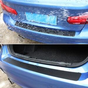 Image 3 - Carbon Fiber Car Trunk Guard Plate Rear Bumper Protect Sticker For  Renault Laguna 2 Captur Fluence Megane 2 Megane 3 Scenic
