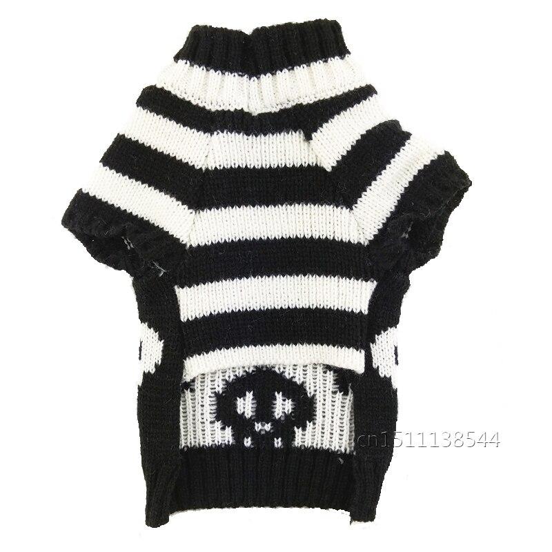 Halloween calavera perro suéter negro blanco mascota ropa invierno ...