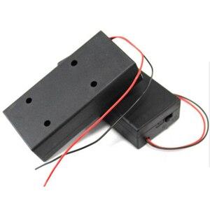 Image 3 - Zerosky 3.7V 2x18650 סוללה מחזיק מחבר אחסון מקרה תיבת עם על/כיבוי עם כבל