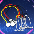 1pcs Single Head Medical Cardiology Cute Stethoscope for Doctor Nurse Vet Medical Student