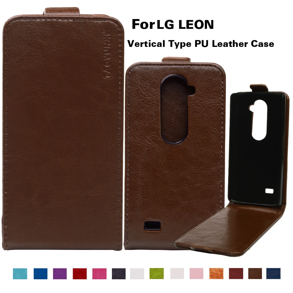 TAOYUNXI 3C Products Store PU Leather Flip Phone Case For LG LEON Holster Tribute 2 4G LTE C40 H340N H320 C50 H324 H340 4.5 '' Case Vertical Magnetic Shell