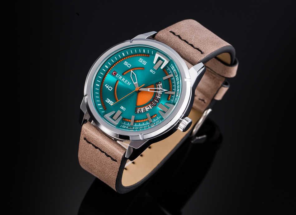 CURREN hommes montre Top marque de luxe Sport hommes montres armée militaire affaires en cuir bande classique poignet Quartz mâle horloge