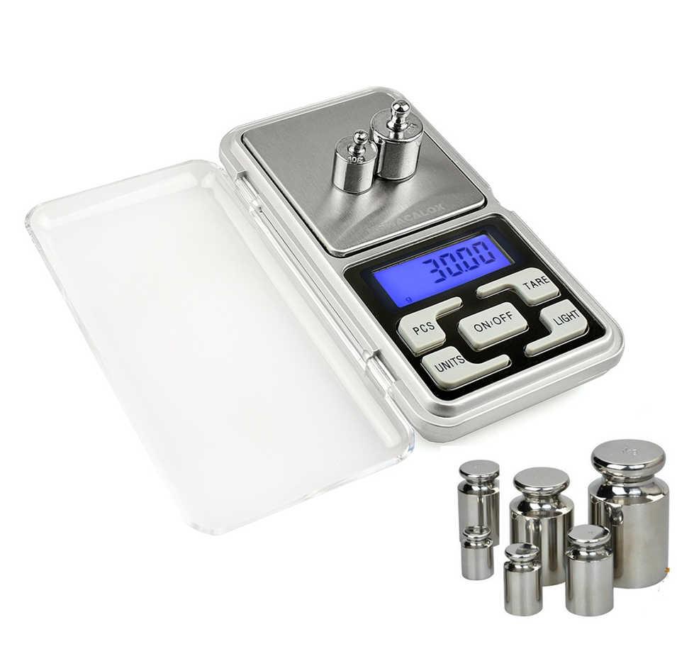 Карманные Цифровые Мини-весы 200 г/300 г/500 г x 0,01 г, электронные весы с максимальной шкалой