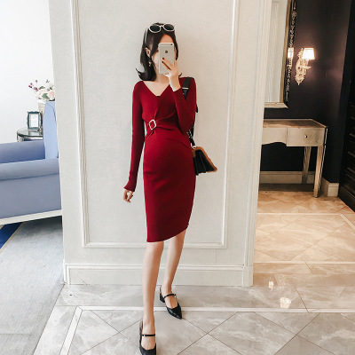 Sexy Bodycon Maternity Knitted Sweater Dress Elegant Slim Wiast Pregnant Women Dresses for Pregnant Women OL Work Clothes FreeSexy Bodycon Maternity Knitted Sweater Dress Elegant Slim Wiast Pregnant Women Dresses for Pregnant Women OL Work Clothes Free