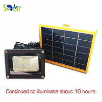 Waterproof 10W Solar Powered LED Flood Light With 5M Wire 2200mA Battery Use In Outdoor Wall