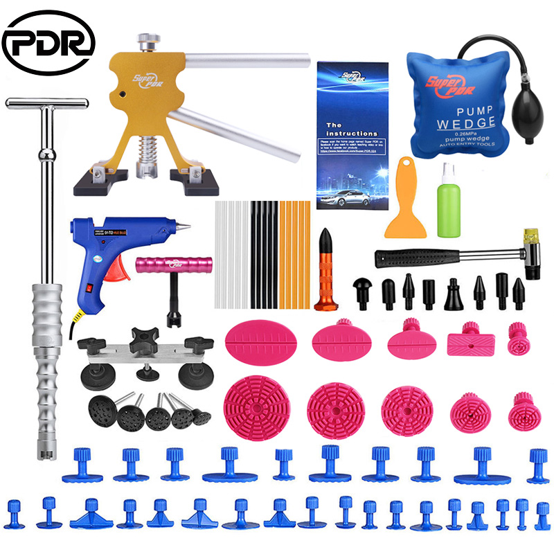 PDR Tools Paintless Dent Removal Car Repair Kit Auto Repair Tool Set Slide Hammer Dent Lifter Suction Cups For Dents watch link removal kit adjuster repair tool set with 5 pins