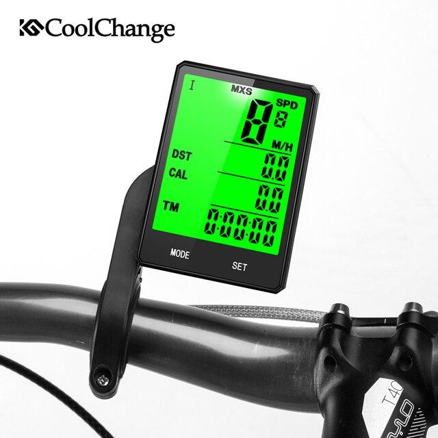 CoolChange беспроводной Велосипедный компьютер Спидометр Одометр непромокаемый велосипедный компьютер велосипедный измеримый температурный секундомер
