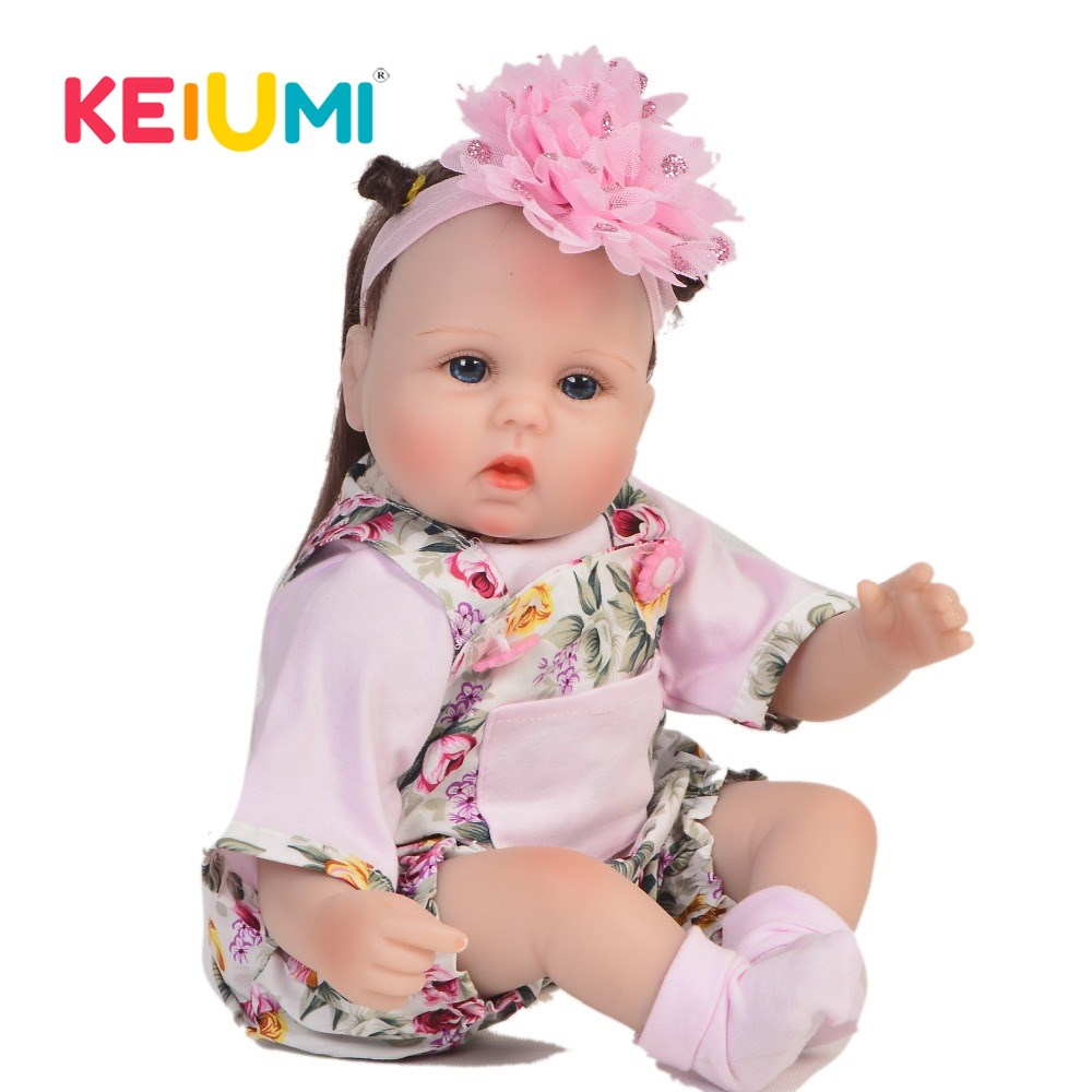 KEIUMI Realistic 17 Inch Baby Reborn Doll Cloth Body Real Looking Newborn Babies Doll For Toddler Christmas Gifts DIY Hair StyleKEIUMI Realistic 17 Inch Baby Reborn Doll Cloth Body Real Looking Newborn Babies Doll For Toddler Christmas Gifts DIY Hair Style