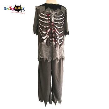 Chłopcy kostium zombie dzieci duch Halloween kostiumy dziecko straszne krwawiące szkielet Party Cosplay przebranie ubranie tanie i dobre opinie Eraspooky Majtki POLIESTER YD013 Zestawy HOLIDAY Zombie Boy Child Zombie Costume Kids Zombie Costume Boys Halloween Costume
