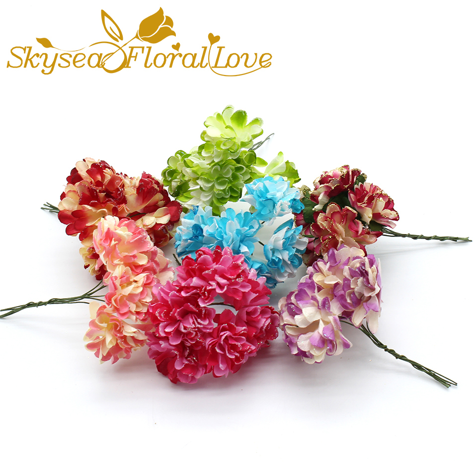 Artificial carnation flowers candy boxes decorative accessories diy artificial carnation flowers candy boxes decorative accessories diy paper flower packaging bouquets wreath decoration in artificial dried flowers from mightylinksfo