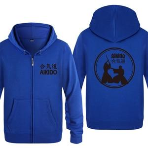Image 5 - Aikido Creatieve Nieuwigheid Hoodies Mannen 2018 mannen Fleece Rits Vesten Hooded Sweatshirts