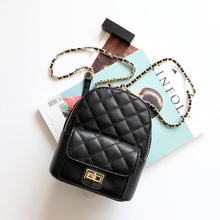 New 2019 Classic Genuine Cow Leather Backpack Multifunction Small Women Chain Backpacks For Teenage Girls School Bag