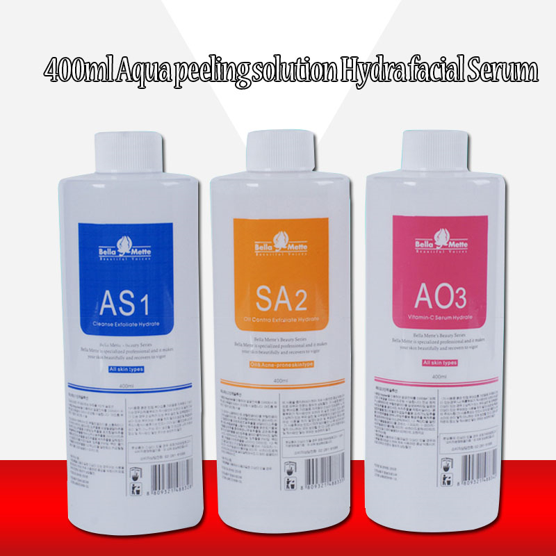 2020 Facial Serum Aqua Peeling Solution 3 Bottles/400ml Per Bottle Aqua Facial Serum Hydra Dermabrasion For Normal Skin