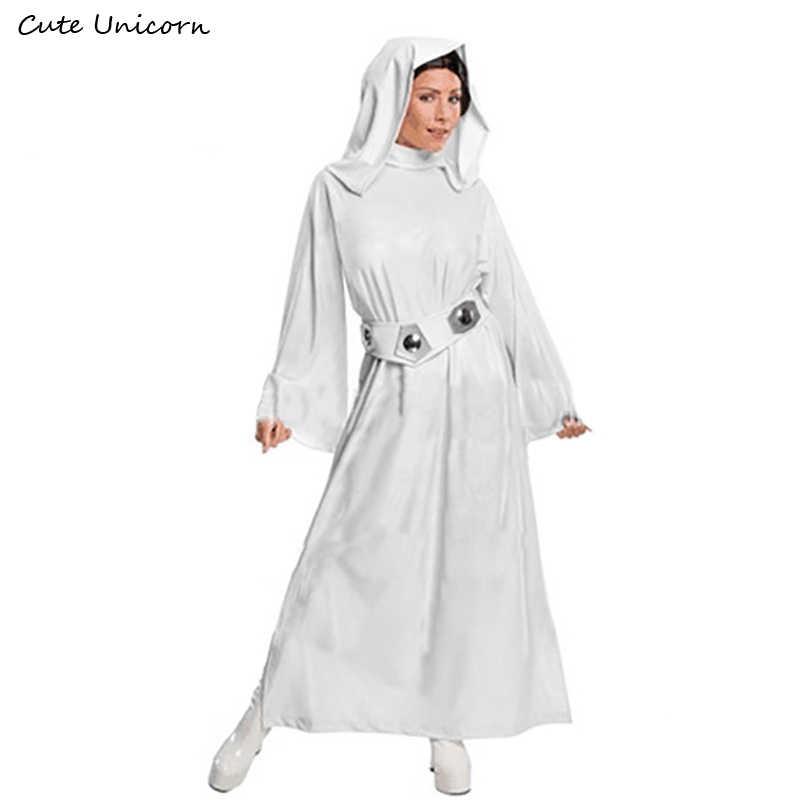 Custom Made Cute Unicorn Star Wars Costume Princess Leia Cosplay Costume  girls clothes female Dress + 42b885ef94ef