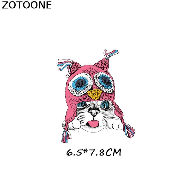 ZOTOONE нашивки с полосками, набор, железная передача, единорог, кошка, нашивки в форме собак, футболки для девочек, детская одежда, сделай сам, переводные наклейки, G - Цвет: 1081