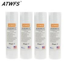 """ATWFS фильтр для очистки воды 5 микрон 4x1"""" ppf-фильтр осадочный фильтр для воды картридж(4 шт.) аквариумные фильтры"""