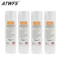 ATWFS фильтр для очистки воды 5 микрон 4x10 ppf-фильтр осадочный фильтр для воды картридж (4 шт.) аквариумные фильтры