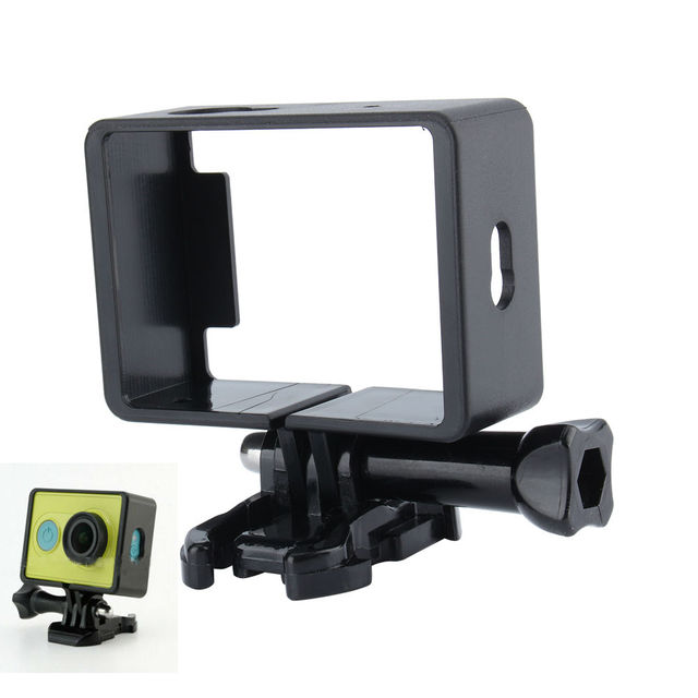 Camera Accessories For Xiaomi Yi Case Frame Protective Housing Side Frame Mount Border with Base Mount Screw For Xiaomi yi