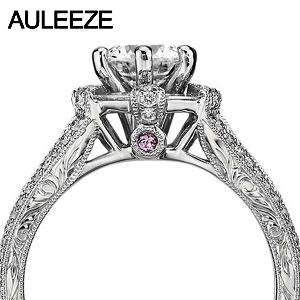 1 Carat Moissanites Cincin Hexagon Baguette Nyata Berlian Perhiasan - Perhiasan bagus - Foto 3