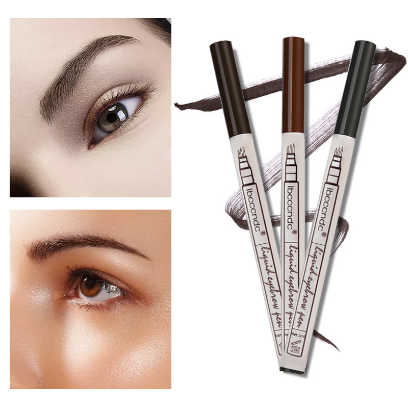 Hot Sale 3 Colors Fine Sketch Liquid Eyebrow Pen Waterproof Tattoo Super Durable Microblading Eye Brow Pencil Smudge-proof 1