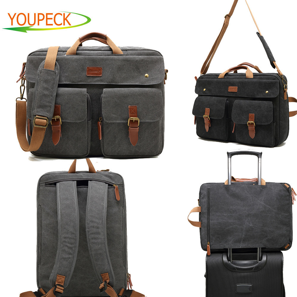 Convertible Laptop Backpack bag 17 17 3 inch notebook Shoulder bag Messenger Bag Laptop Case Handbag