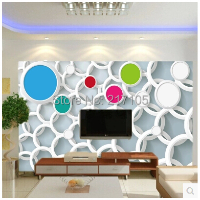 Custom 3D pvc wallpaper color circle for the living room sofa TV kitchen bedroom children room background vinyl papel de parede eggers d the circle a novel