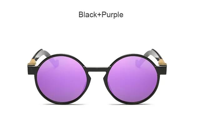 Fashion 2019 Women Brand Designer Big Size Round Coating Vintage Sunglasses Female Retro Oversized Flat High Quality Sun Glsses