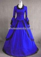 Королевский Синий Урожай Викторианской Dress for Sale