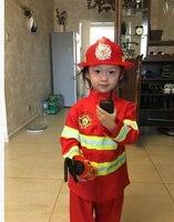 110 160 Cm 2 Colors 1Set Kid Child Halloween Christmas Cosplay Firefighter Fireman Costume