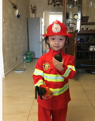 110 160 Cm 2 Colors 1Set Kid Child Halloween Christmas Cosplay Firefighter Fireman Costume
