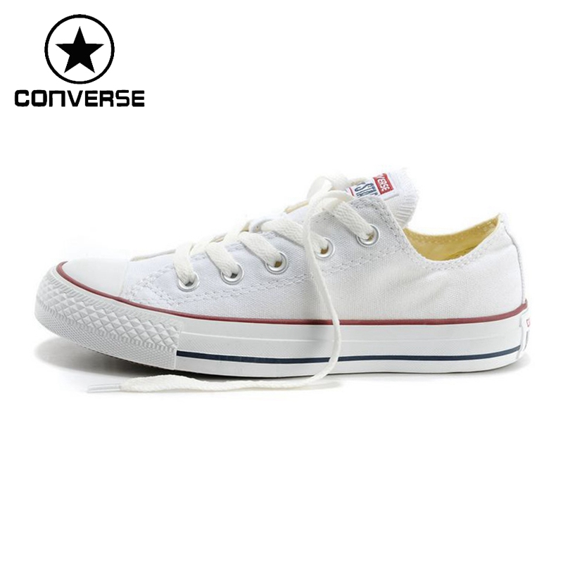 ФОТО Original New Arrival 2017 Converse Low top classic Canvas Skateboarding Shoes Unisex Sneakser