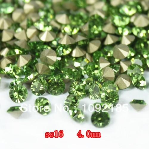 Ss16 ( 3.8 - 4.0 mm ) peridoto color, 10 gross / lot imitación de Chaton Rhinestone para accesorio de la joyería! envío gratis
