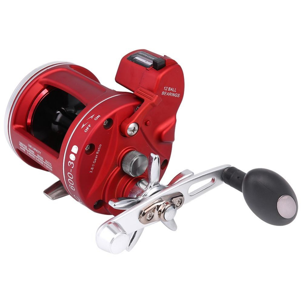 Outdoor ACL Bait Wheel Reel Rod Line 11+1BB Fishing Gear Left 50 w/ /Right 30 w Count wheel fishing reels tackle pesca 11 1bb fishing line counter trolling reels right handle acl bait fishing wheel for fishing