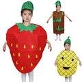 Frutas e Legumes do Dia das crianças Desempenho Trajes Morango Uva Abacaxi Pimenta Dança Desempenho ClothingPer TRQ1112