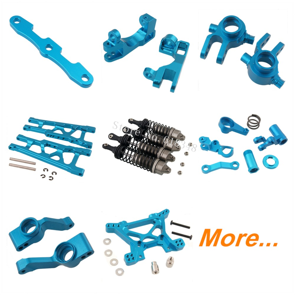 For Traxxas Slash 4x4 Option Upgrade Parts Aluminum RC 1/10 Electric 4WD Short Course Truck Platinum Ultimate VXL RTR Kit Option 4pcs lot for rc 1 10 traxxas traxxas slash 4x4 upgrade parts aluminum wheel hex mount 12mm thickness 7mm