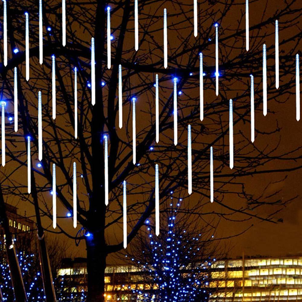 Waterproof Meteor Shower Rain Tube LED Light String Lights For Indoor Outdoor Garden Wedding Christmas Party Decor